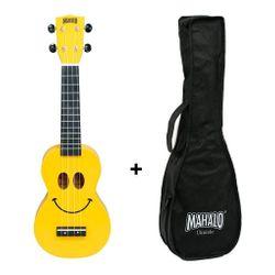 Ukelele-Soprano-Mahalo-U-smile-Series-Smile-Con-Funda-Original-Cuerpo-De-Sengon-Cuerdas-Aquila-Ideal-Estudio-Laqueado