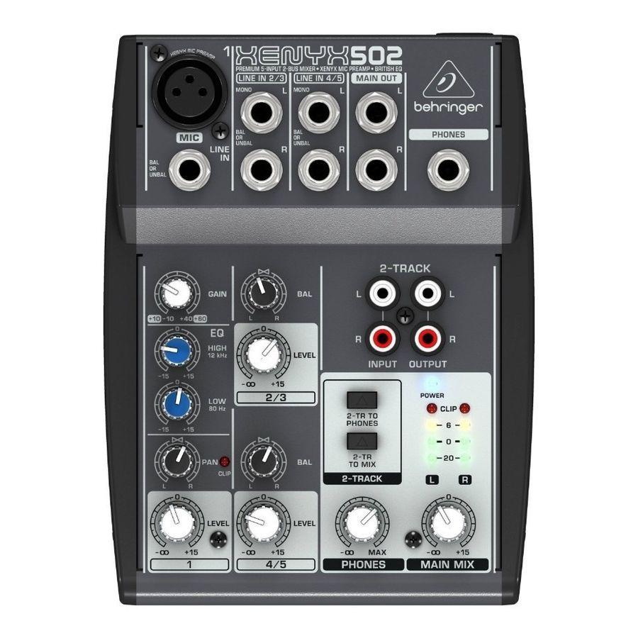 Consola-Compacta-5-Canales-Behringer---Xenyx-502