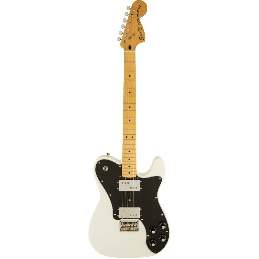 Guitarra-Electrica-Squier-Telecaster-Deluxe-Vintage-Modified-Olympic-White-Golpeador-Negro