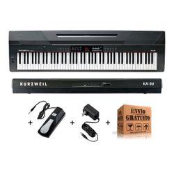 Piano-Electrico-Digital-Kurzweil-Ka90-De-88-Teclas-Accion-Martillo-Sensitivo-Incluye-Pedal-Sustein-Y-Fuente-Alimentacion