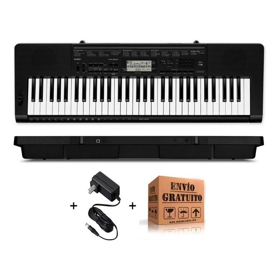 Teclado-Organo-Casio-Ctk3500-Sensitivo-De-5-Octavas-61-Teclas-Polifonia-De-48-Voces-Con-Dance-Music-Puerto-Usb-Midi