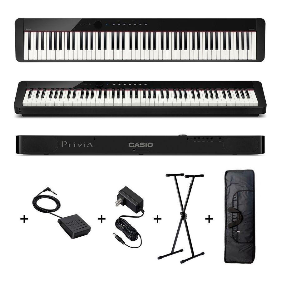 Piano-Casio-Privia-Px-s1000-88-Teclas-Pesadas-Soporte-Funda