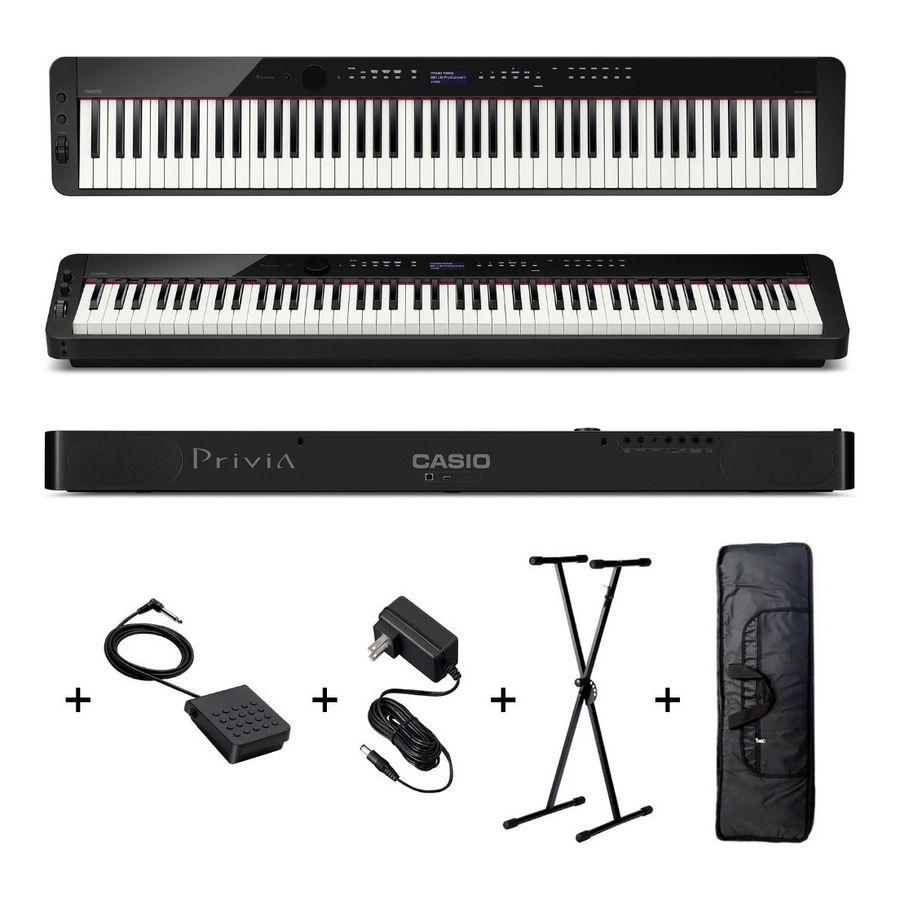 Piano-Casio-Privia-Px-s3000-88-Teclas-Pesadas-Soporte-Funda