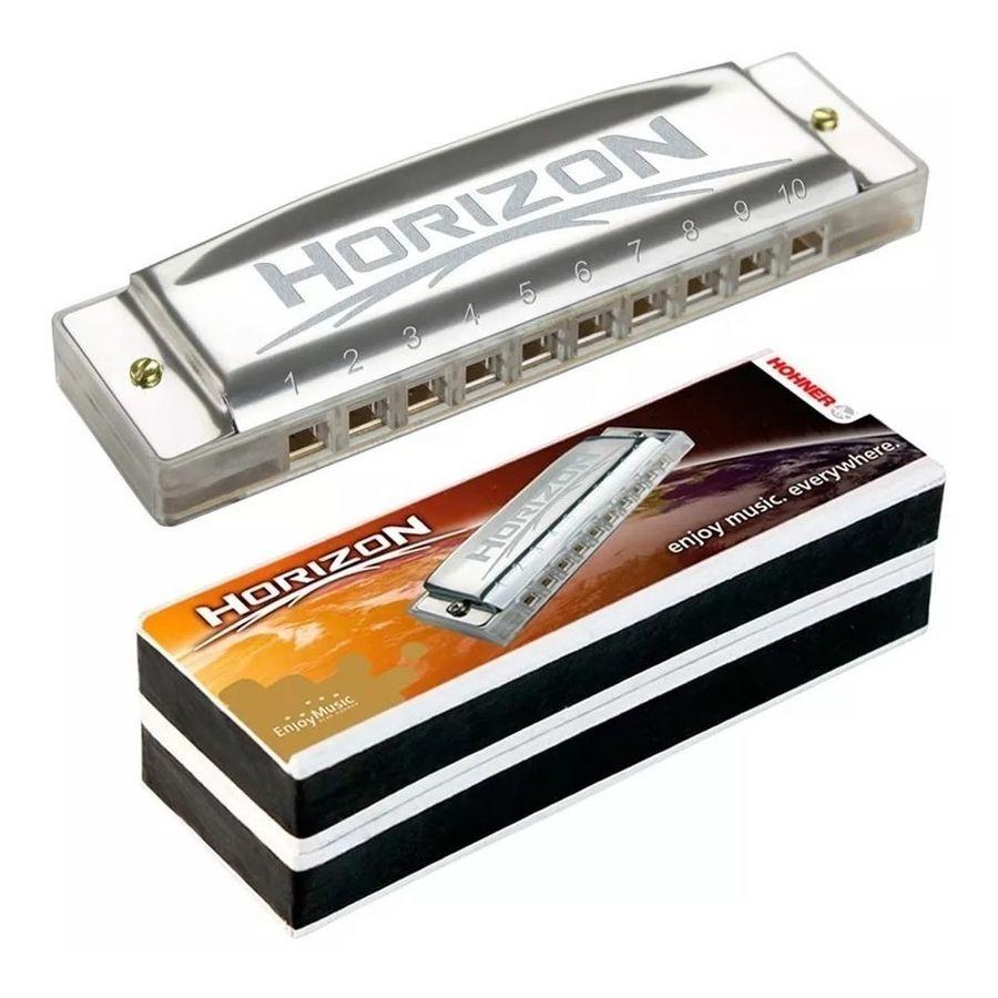 Armonica-Hohner-Serie-Horizon-Diatonica-En-Do-C-Modelo-M91510-Con-Estuche-De-10-Orificios-20-Voces---Ideal-Para-Estudio