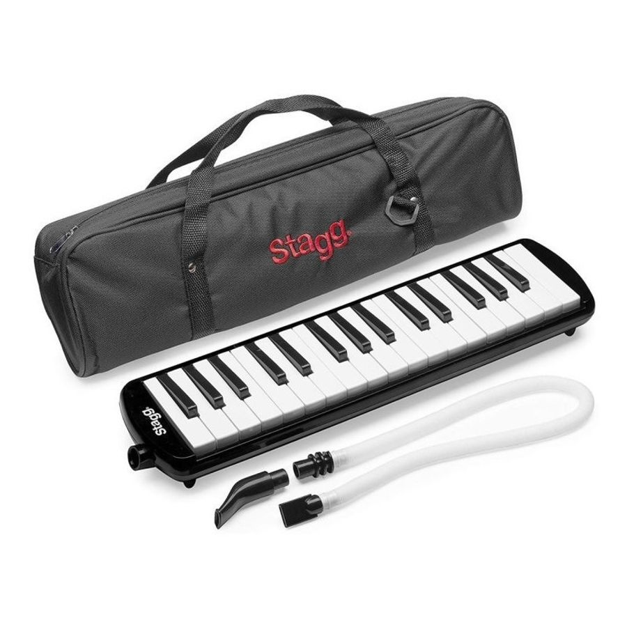 Flauta-Melodica-Stagg-De-32-Teclas-Con-Estuche-Original-Y-Boquilla-Tubo-Flexible-Portatil-Ideal-Para-Estudio-En-Colores