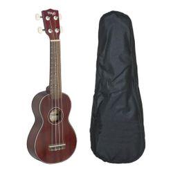 Ukelele-Tamaño-Soprano-Stagg-Us40-De-Caoba-Con-Funda
