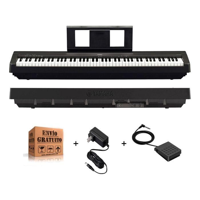 Piano-Electrico-Digital-Yamaha-P45-De-7-Octavas-88-Teclas-Con-Accion-Martillo-Con-Fuente-Color-Negro-Y-Envio-Gratis
