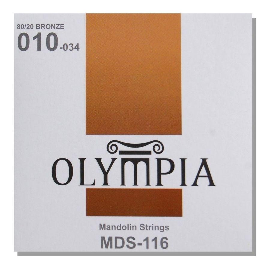 Encordado-Para-Mandolina-Olympia-Mds116-Fabricadas-En-Bronze-Calibres-010-034-Forma-Hexagonal-Uniforme-De-Tension-Normal