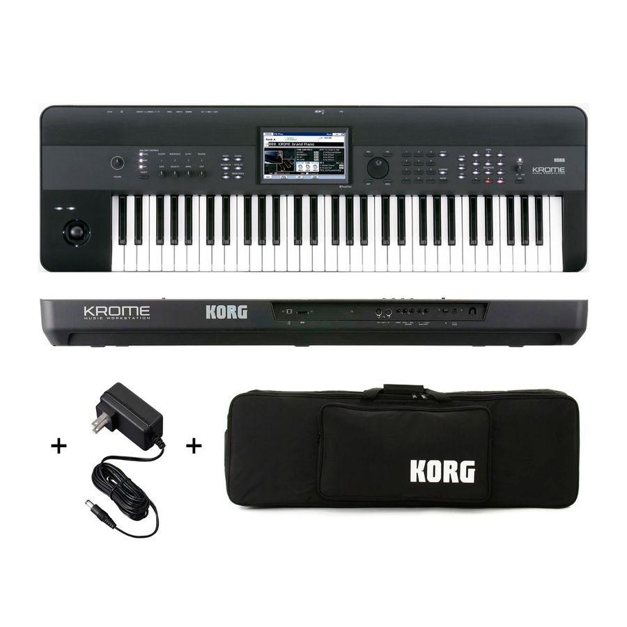 Combo-Korg-Krome-61-Sintetizador-Workstation-Funda-Original