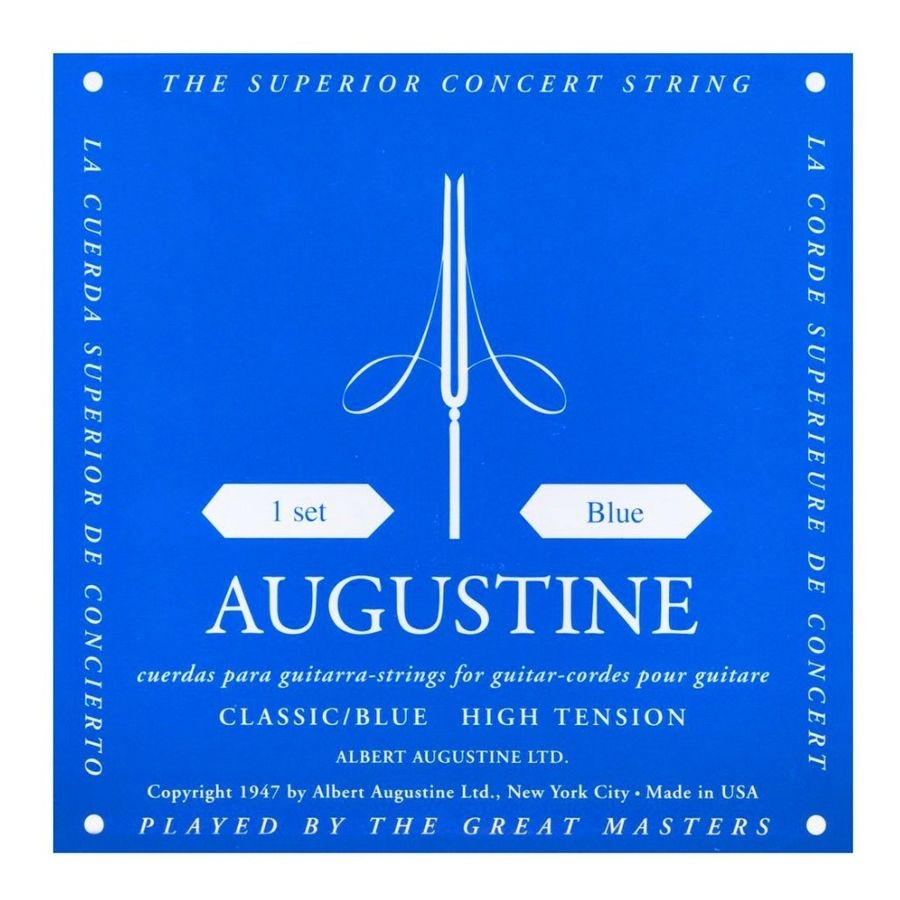 Encordado-Para-Guitarra-Clasica-Augustine-Classic-Blue-Usa-Calibre-028-045---Tension-Alta