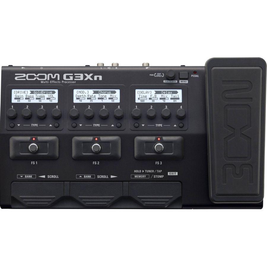 Pedalera-Multiefecto-Para-Guitarra-Zoom-G3xn-Usb-80-Efectos