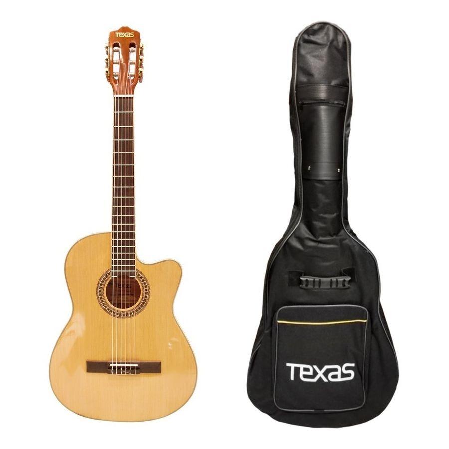 Guitarra-Criolla-Clasica-Texas-Cg20-Lc5-Afinador-Eq-Mic-Nat