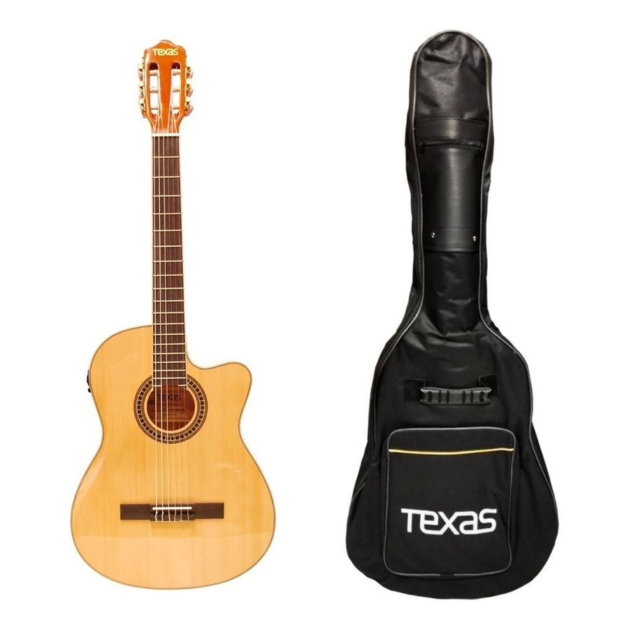Guitarra-Clasica-Electro-Criolla-Texas-Cg30-Funda-Afinador