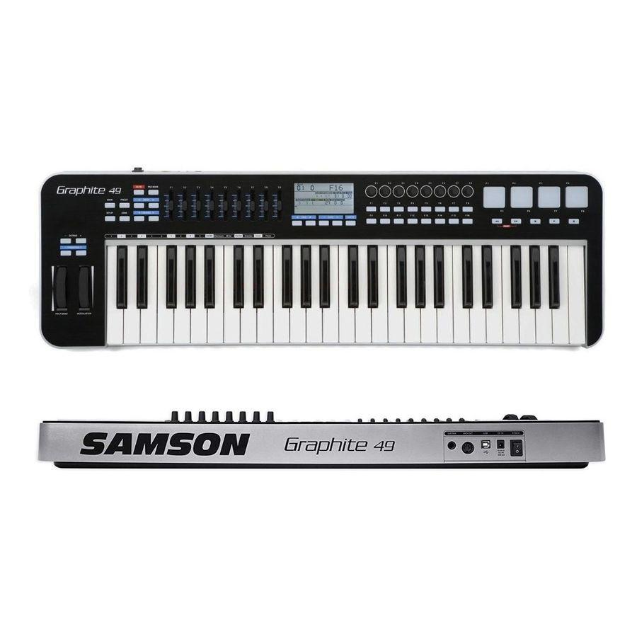 Teclado-Controlador-Samson-Midi-Kgr49-Usb-Graphite-49-Teclas