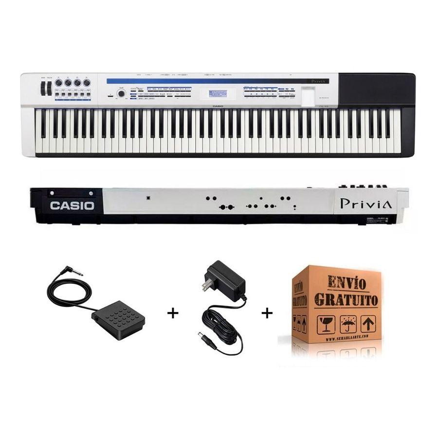 Piano-Casio-Digital-Privia-88-Notas-Con-Secuenciador-Px5