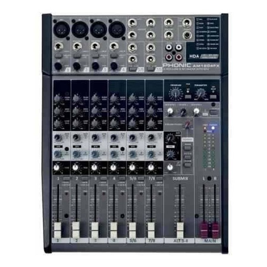 Consola-Mixer-Phonic-4-Mic-2-Stereo-Eq-3bd-Efectos---M1204fx