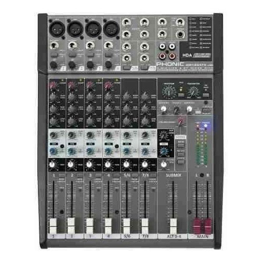 Consola-Phonic-Mixer-6-Canales-Eq-3bd-Efectos-Am1204fx-usb
