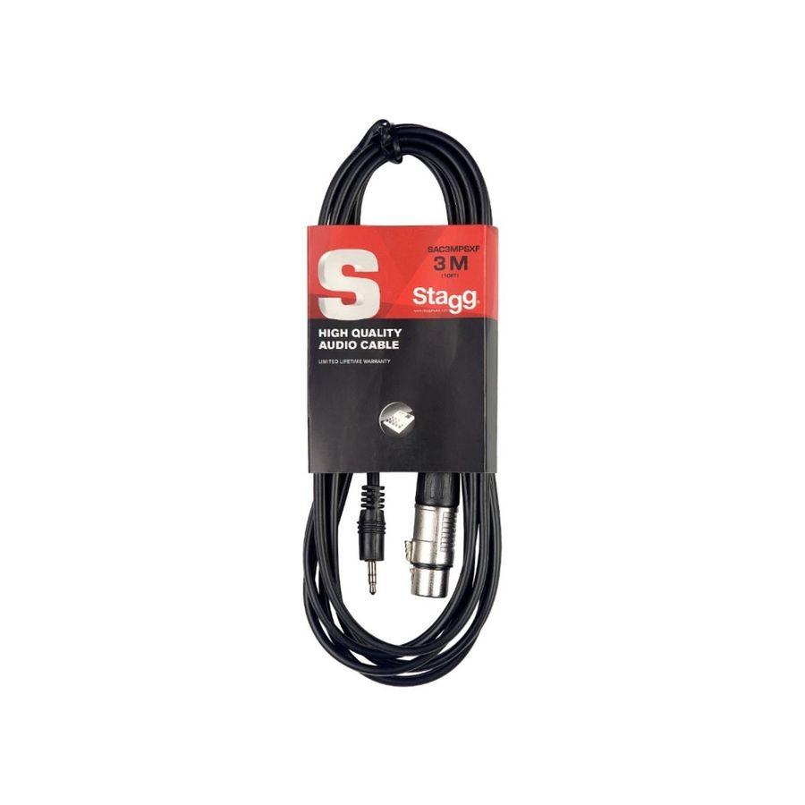 Cable-Mini-Plug-Stereo-A-Canon-Stagg-Medida-3-Metros-Sac3mpsxf-Conector-De-Entrada-Xlr-Conector-De-Salida-Mini-Plug