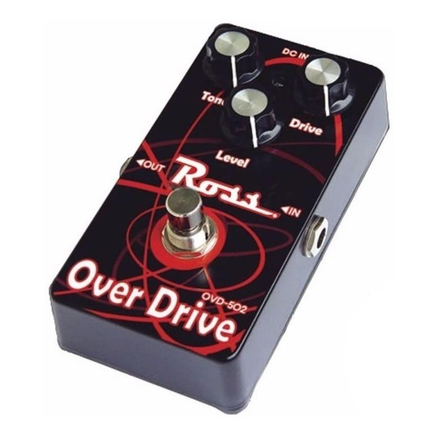Pedal-De-Efectos-Para-Guitarra-Electrica-Ross-Overdrive-Ovd-502-Analogo-Led-Indicador-Conector-Plug-Jack-Carcasa-Metal