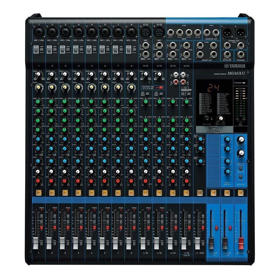 Consola-Yamaha-Mg16-Xu-16-Canales-Efectos-Eq-De-3-Bandas-Usb