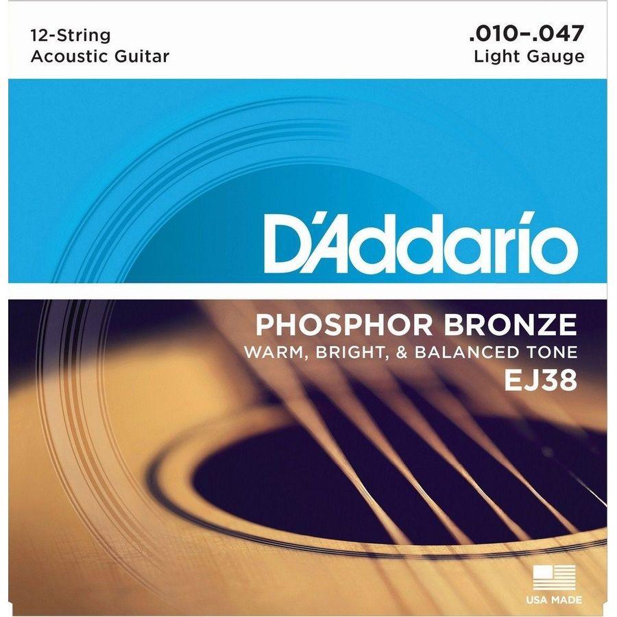 Encordado-Daddario-Ej38-Para-Guitarra-Acustica-De-12-Cuerdas