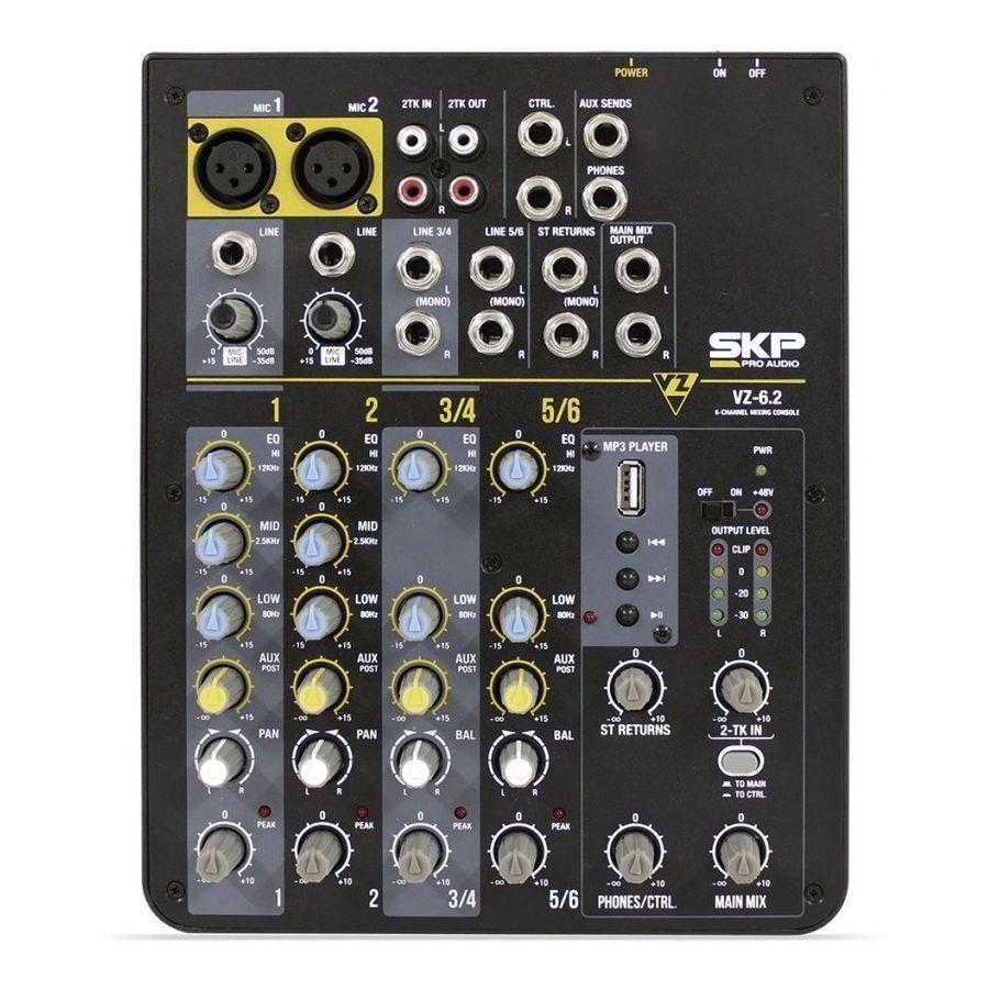 Consola-Skp-De-6-Canales-2-Xlr-Puerto-Usb-Reproductor-Mp3