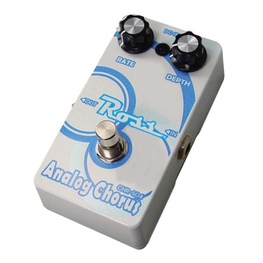 Pedal-De-Efectos-Para-Guitarra-Electrica-Ross-Chorus-Analogo-Chr-504-Led-Indicador-Conector-Plug-Jack-Carcasa-De-Metal