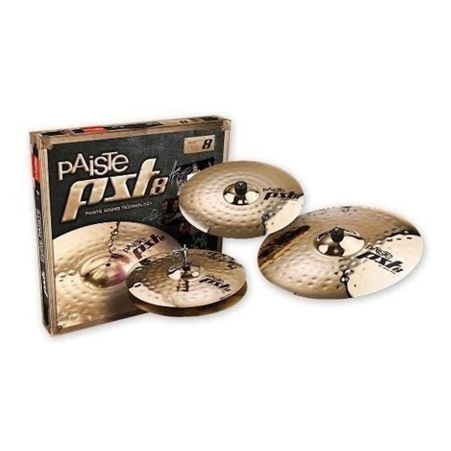 Set-De-Platillos-Paiste-Pst8-Rock-Hi-hat-14-Crash-16-Ride-20