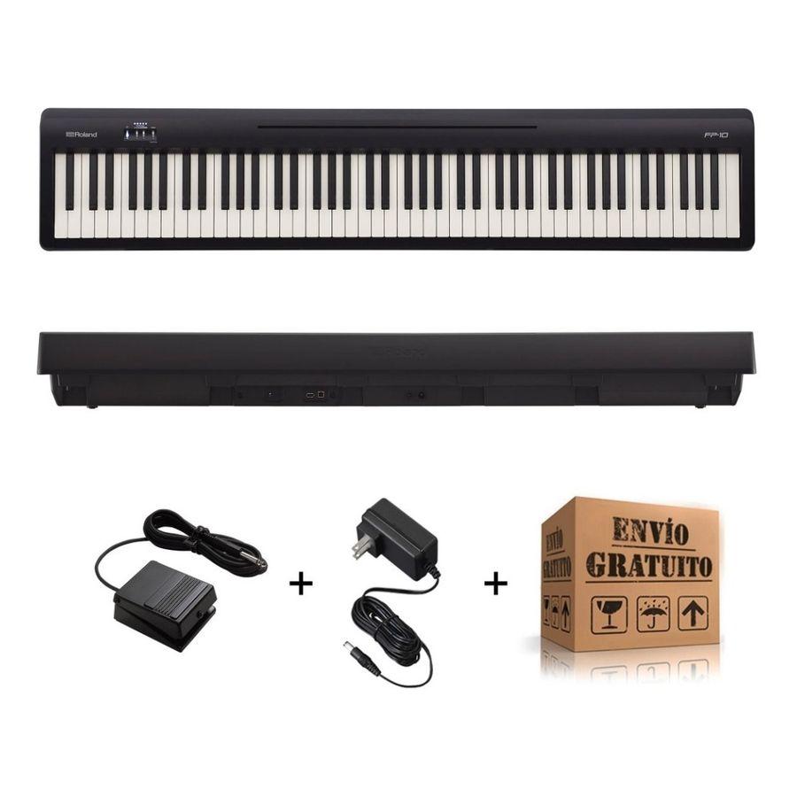 Piano-Digital-Roland-Fp10-Blk-De-88-Teclas-Accion-Martillo