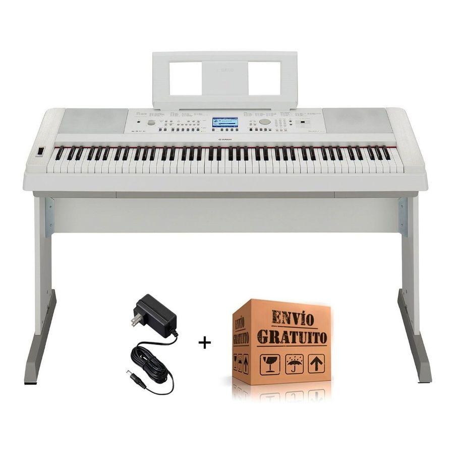 Piano-Electrico-Yamaha-Dgx660-88-Teclas-Con-Mueble---Blanco