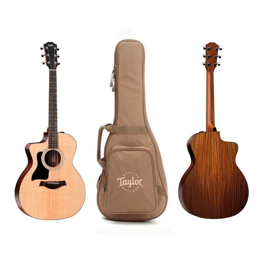 Guitarra-Electroacustica-Para-Zurdo-Taylor-114-Ce-Con-Funda