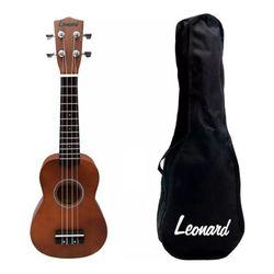 Ukelele-Soprano-Leonard-Uk15-Sparkle-Brillante-Con-Funda-Original-Cuerpo-Tradicional-De-Sengon-Cuerdas-Nylon-Mango-Caoba