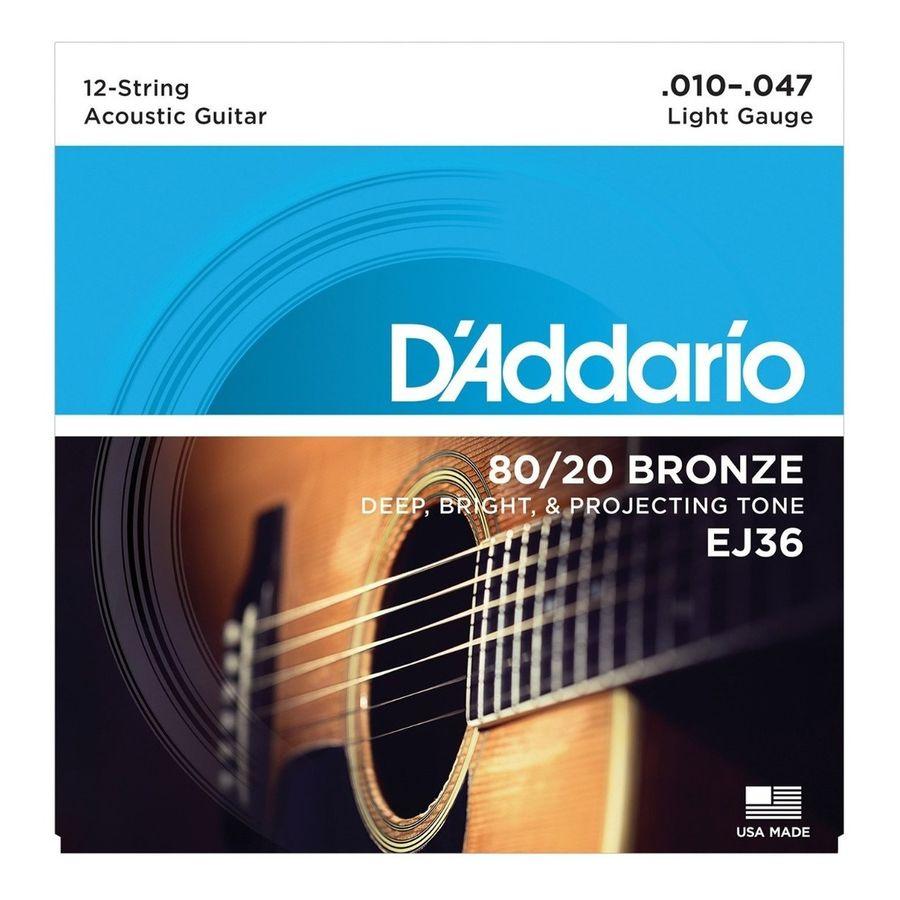 Encordado-Daddario-Ej36-Para-Guitarra-Acustica-De-12-Cuerdas