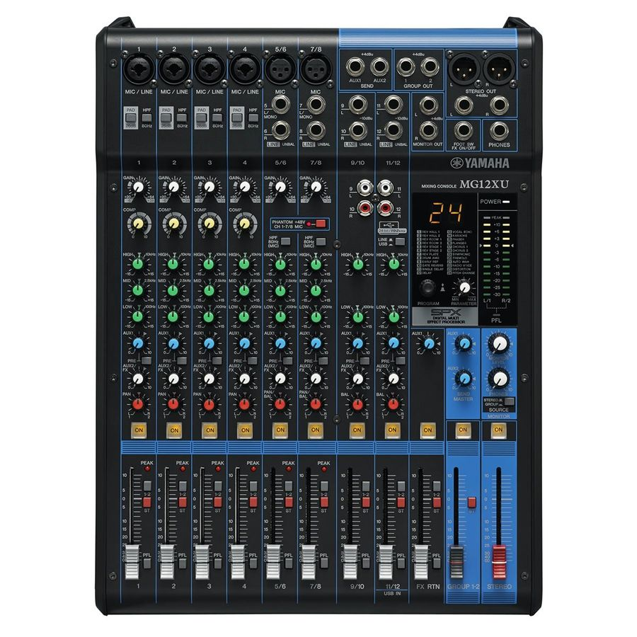Mixer-Consola-Yamaha-12-Canales-Usb-Efectos-Mg12xu