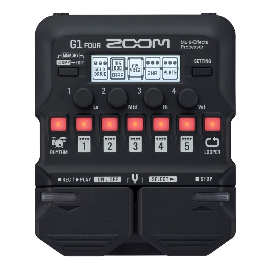 Pedalera-Multiefecto-Zoom-G1-Four-Con-70-Efectos-Usb-Midi-Con-Looper-Y-Ritmos-De-Bateria-Pedal