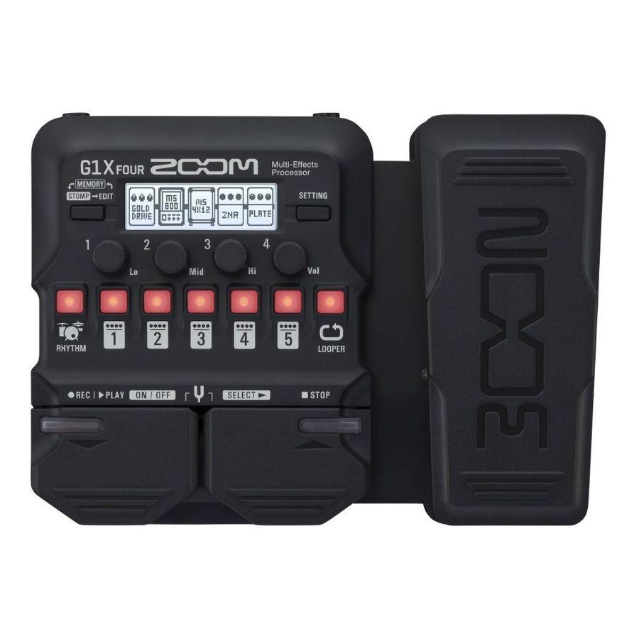 Pedalera-Multiefecto-Zoom-G1x-Four-Con-Pedal-De-Expresion-70-Efectos-Usb-Midi-Con-Looper-Y-Ritmos-De-Bateria-Pedal