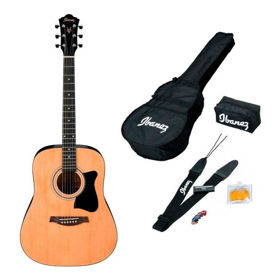 Combo-Ibanez-Pack-Guitarra-Acustica-Funda-V50njp-Accesorios