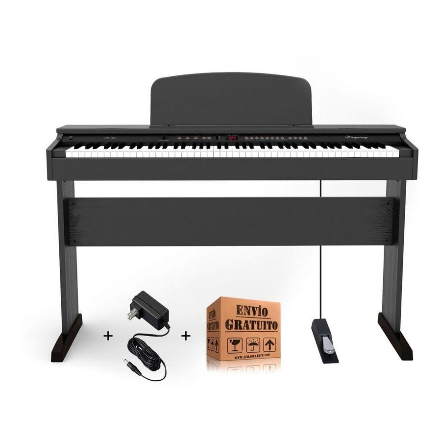 Piano-Electrico-Digital-Ringway-Rp120-Mueble-Original-Pedal