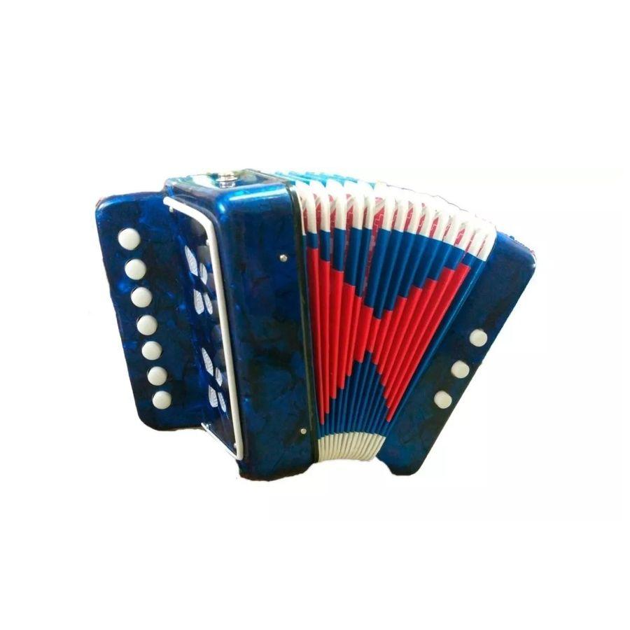 Acordeon-De-Madera-J.meister-2-Bajos-7-Botones-Azul-Y-Rojo