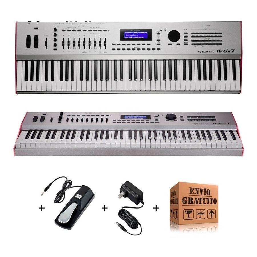 Teclado-Sintetizador-Kurzweil-Artis-7-76-Teclas-Semipesadas