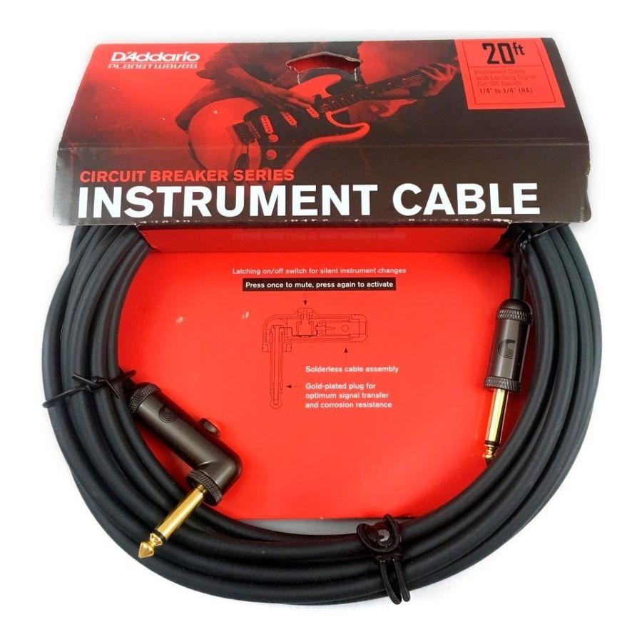 Cable-De-Instrumentos-Daddario-Planet-Waves-Con-Interruptor-De-Silencio-Pw-agl-20-De-20-Pies-6-Mts-Ficha-Angular---Recta