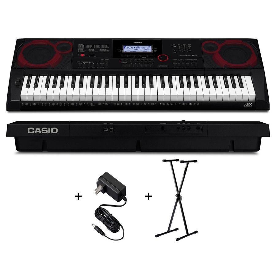 Teclado-Organo-Casio-Ct-x3000-Sensitivo---Fuente---Soporte