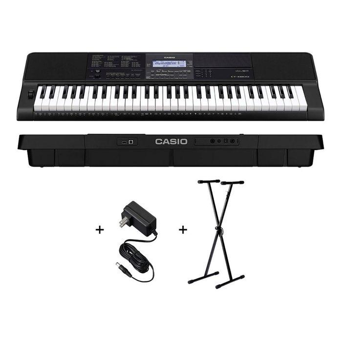 Teclado-Casio-Organo-Ct-x800-Sensitivo---Fuente---Soporte