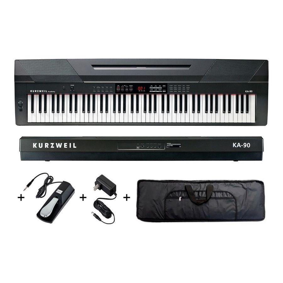Piano-Digital-Kurzweil-Ka90-88-Teclas---Pedal-Fuente-Funda