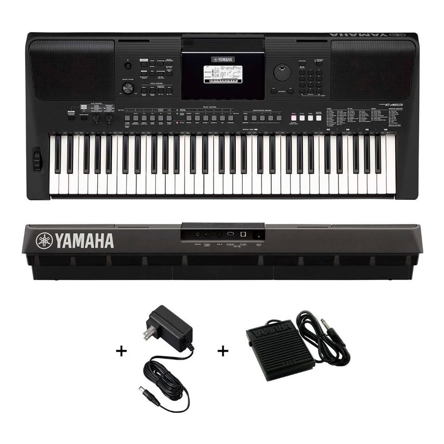 Teclado-Organo-Yamaha-Psre-463-Sensitivo---Pedal-Original
