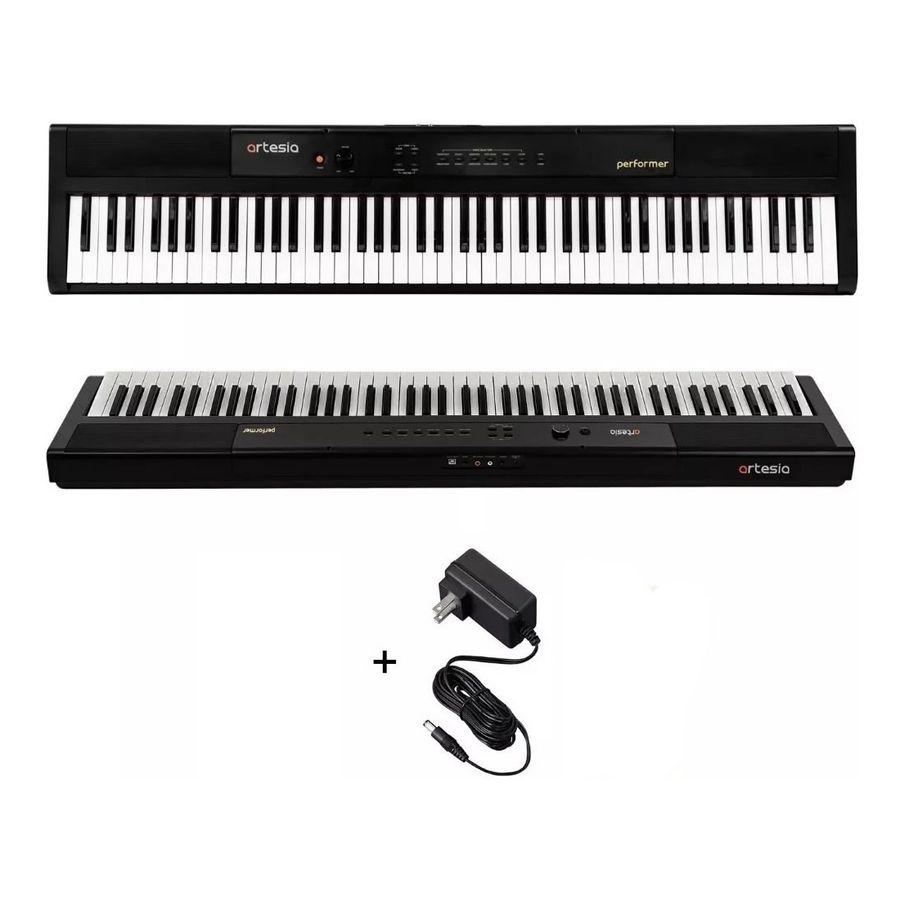 Piano-Electrico-Artesia-Performer-88-Teclas-Sensitivas-Con-Efectos-Reverb---Chorus---Eq-Pedal-Sustain-Incluido