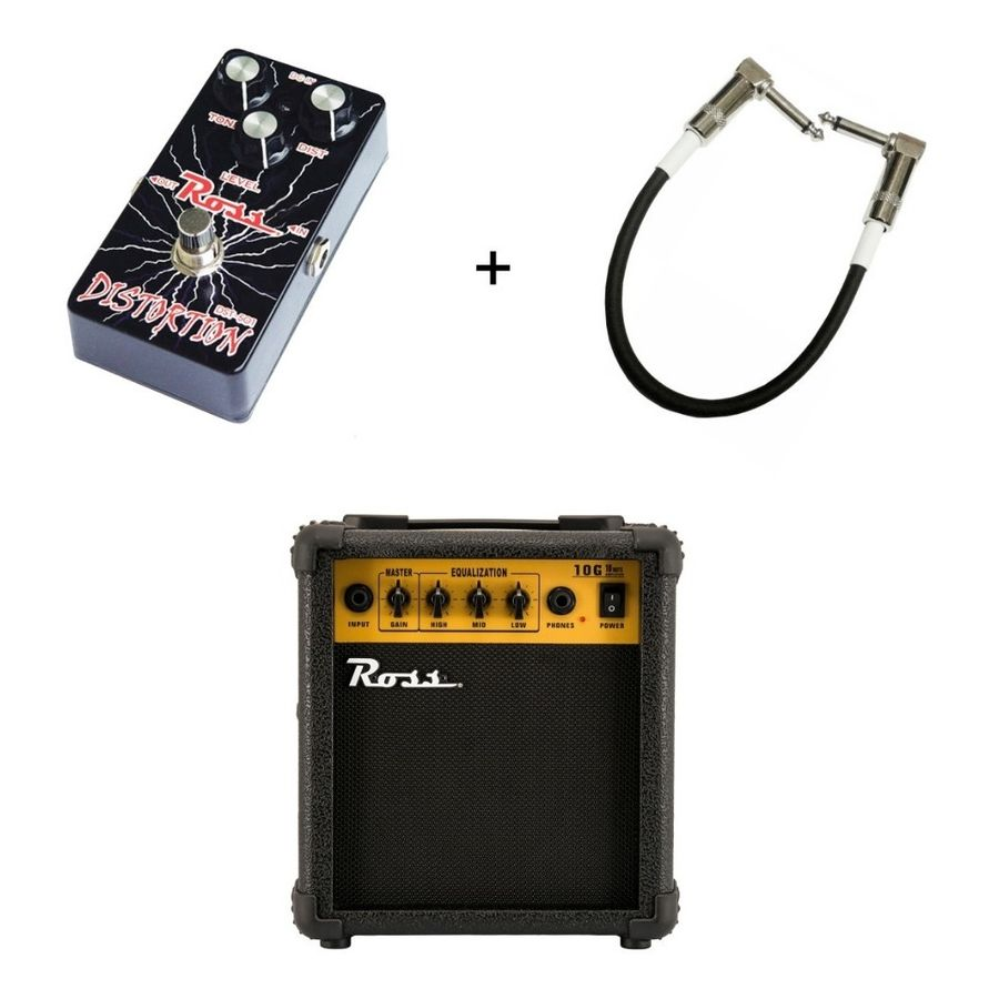 Amplificador-Ross-10-W---Pedal-Ross-Distorsion---Cable-Combo