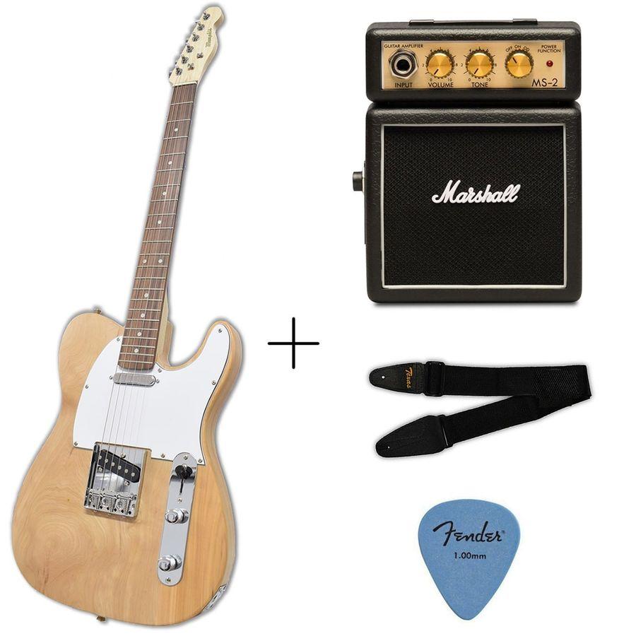 Guitarra-Electrica-Telecaster---Amplificador-Marshall-Ms2