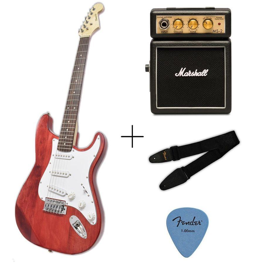 Guitarra-Electrica-Stratocaster---Amplificador-Marshall-Ms2