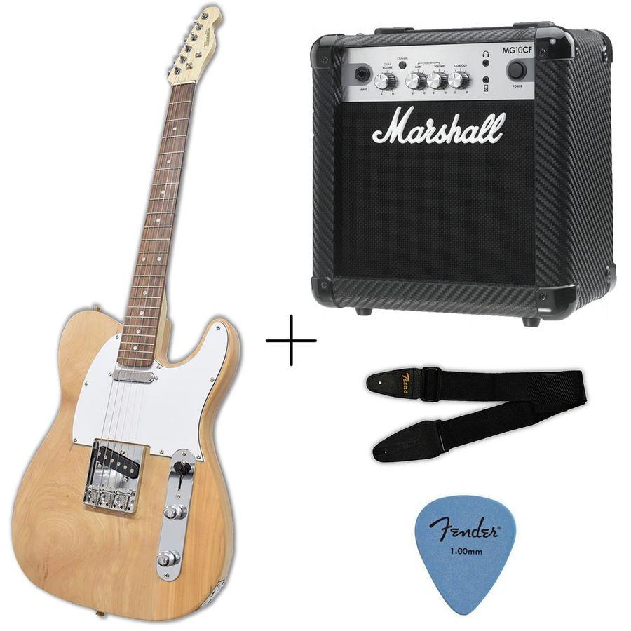 Guitarra-Electrica-Telecaster---Amplificador-Marshall-Mg10